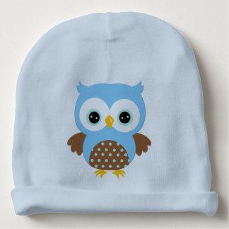 Gorro Para Bebê Coruja azul bonito