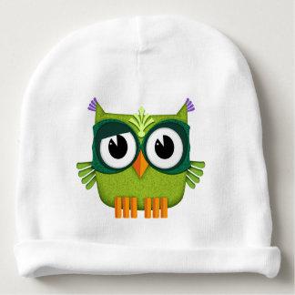 Gorro Para Bebê coruja verde