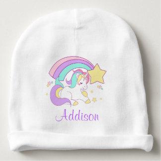 Gorro Para Bebê Costume bonito unicórnio mágico personalizado do