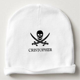 Gorro Para Bebê Crânio da bandeira de pirata