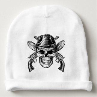 Gorro Para Bebê Crânio e pistolas do vaqueiro