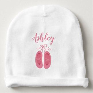 Gorro Para Bebê Dançarino cor-de-rosa dos calçados de dedo do pé