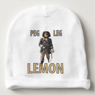 """Gorro Para Bebê De """"limão do pé Peg"""" do pirata"""