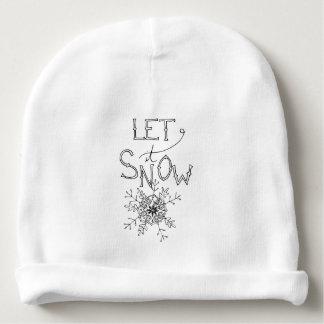 Gorro Para Bebê Deixais lhe para nevar - Beanie do bebê do Natal  