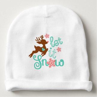 Gorro Para Bebê Deixais lhe para nevar - design do Natal do
