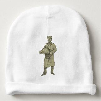 Gorro Para Bebê Desenho da bandeja da comida do serviço do garçom