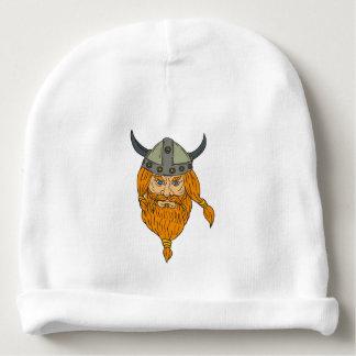 Gorro Para Bebê Desenho da cabeça do guerreiro de Viking do