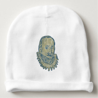 Gorro Para Bebê Desenho do busto do senhor Walter Raleigh