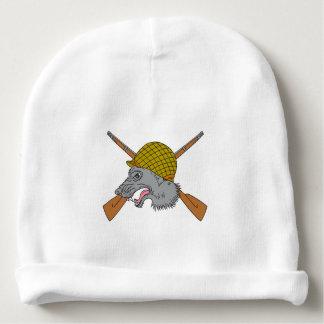 Gorro Para Bebê Desenho do capacete da guerra mundial 2 da cabeça