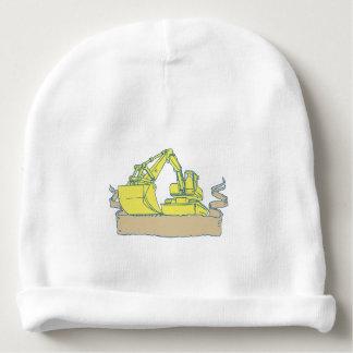 Gorro Para Bebê Desenho do rolo da fita da máquina escavadora do