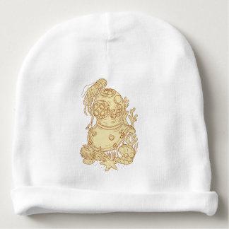 Gorro Para Bebê Desenho subaquático do capacete do mergulho da