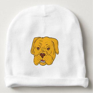 Gorro Para Bebê Desenhos animados da cabeça de cão do Bordéus