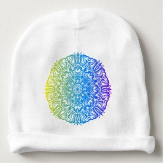 Gorro Para Bebê Design floral étnico abstrato colorido da mandala