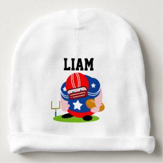 Gorro Para Bebê Design patriótico adorável do jogador de futebol
