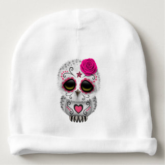 Gorro Para Bebê Dia cor-de-rosa da coruja inoperante do bebê