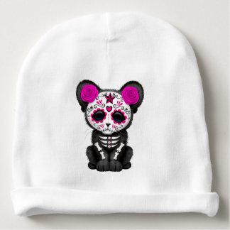 Gorro Para Bebê Dia cor-de-rosa da pantera preta inoperante Cub