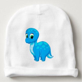 Gorro Para Bebê Dinossauro bonito do Brontosaurus do bebê azul