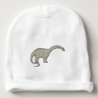 Gorro Para Bebê Dinossauro do Brontosaurus que olha abaixo da mono