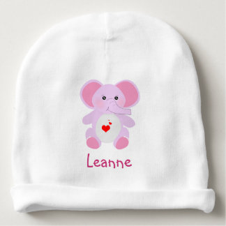 Gorro Para Bebê Elefante cor-de-rosa bonito do bebê para o bebé