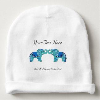 Gorro Para Bebê Elefante do Henna (azul/luz - azul)
