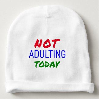Gorro Para Bebê Engraçado não adulting hoje citações