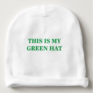Gorro Para Bebê Este é meu chapéu verde para o dia de St Patrick
