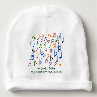 Gorro Para Bebê Eu sou apenas um bebê, mas eu já amo a música!