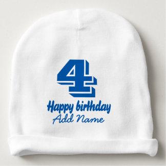 Gorro Para Bebê Feliz aniversario com nome