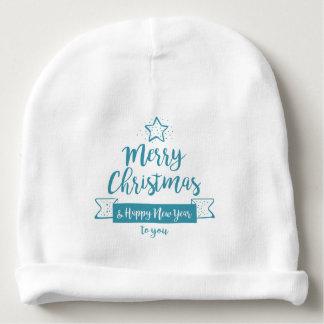 Gorro Para Bebê Feliz Natal & elegante simples do feliz ano novo