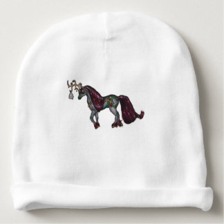 Gorro Para Bebê Feriado do pônei do cavalo da rena de Bell de