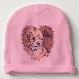 Gorro Para Bebê Filhote de cachorro bonito em um chapéu do bebê do