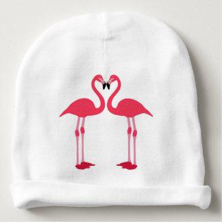 Gorro Para Bebê flamingo-pássaro-amor