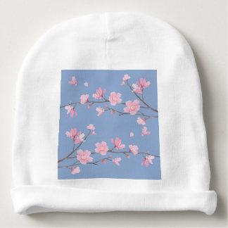 Gorro Para Bebê Flor de cerejeira - azul da serenidade