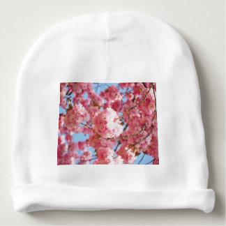 Gorro Para Bebê Flor de cerejeira japonesa cor-de-rosa