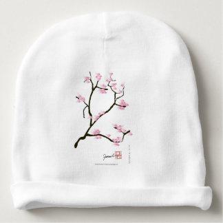 Gorro Para Bebê flor de sakura com pássaros cor-de-rosa, fernandes
