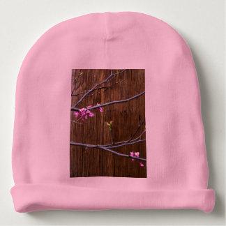 Gorro Para Bebê Flores da árvore de cereja e chapéu de madeira do