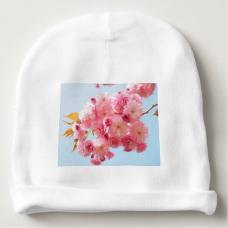Gorro Para Bebê Fotografia japonesa cor-de-rosa da flor de