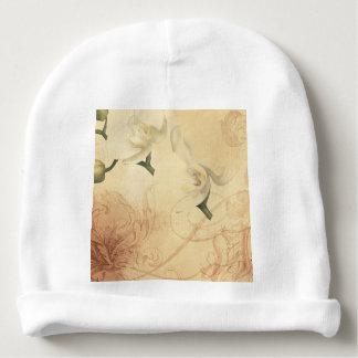 Gorro Para Bebê Fundo da orquídea do vintage