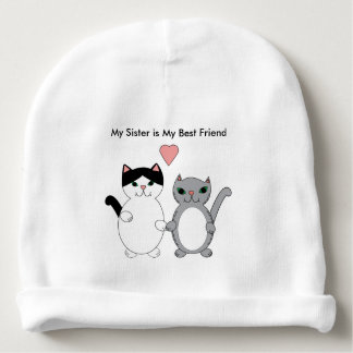 Gorro Para Bebê Gatos do melhor amigo da irmã feitos sob encomenda