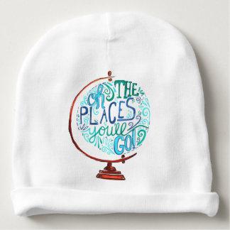 Gorro Para Bebê Globo do vintage - oh os lugares você irá
