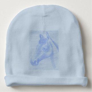 Gorro Para Bebê Gorro de Algodão desenho cavalo azul