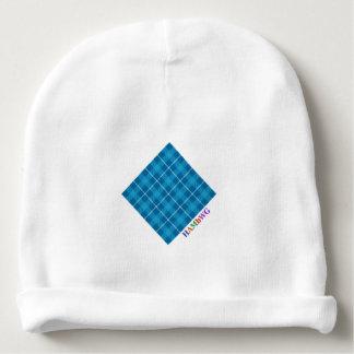 Gorro Para Bebê HAMbyWG - Beanie do bebê - L. Azul Xadrez