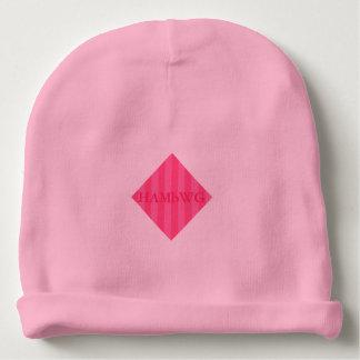 Gorro Para Bebê HAMbyWG - Beanie do bebê - listra cor-de-rosa