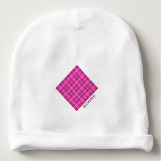 Gorro Para Bebê HAMbyWG - Beanie do bebê - xadrez cor-de-rosa