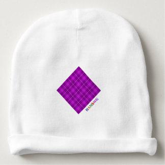 Gorro Para Bebê HAMbyWG - Beanie do bebê - xadrez violeta