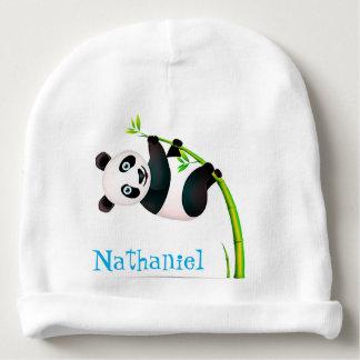 Gorro Para Bebê Haste de bambu de suspensão preto e branco do ramo