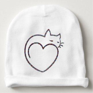 """Gorro para bebê """"Heart Cat"""""""