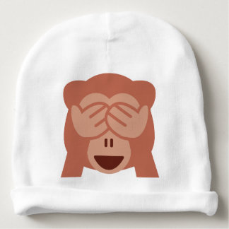 Gorro Para Bebê Hide and seek Emoji Monkey