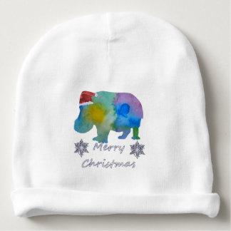 Gorro Para Bebê Hipopótamo do Natal