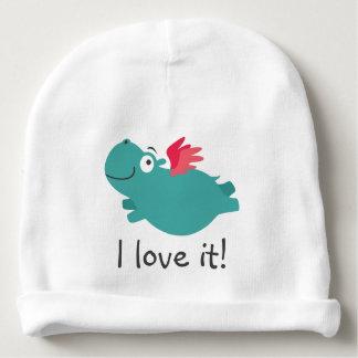 Gorro Para Bebê Ilustração do hipopótamo do vôo